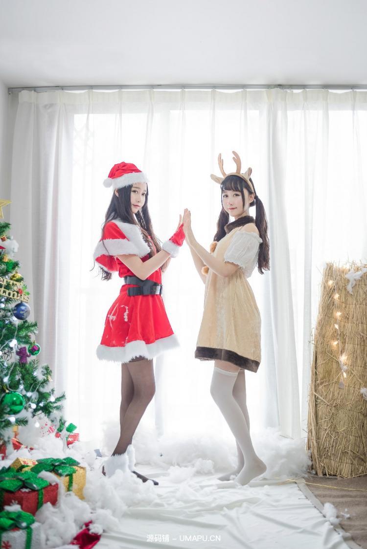 姐妹花给你圣诞节的特别福利[46P]