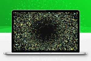 HTML5 Canvas时光隧道3D粒子动画特效