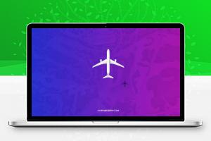 HTML CSS3高空中飞机飞行交互动画特效代码