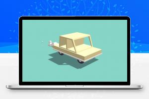 3D汽车模型排放尾气动画特效Canvas代码
